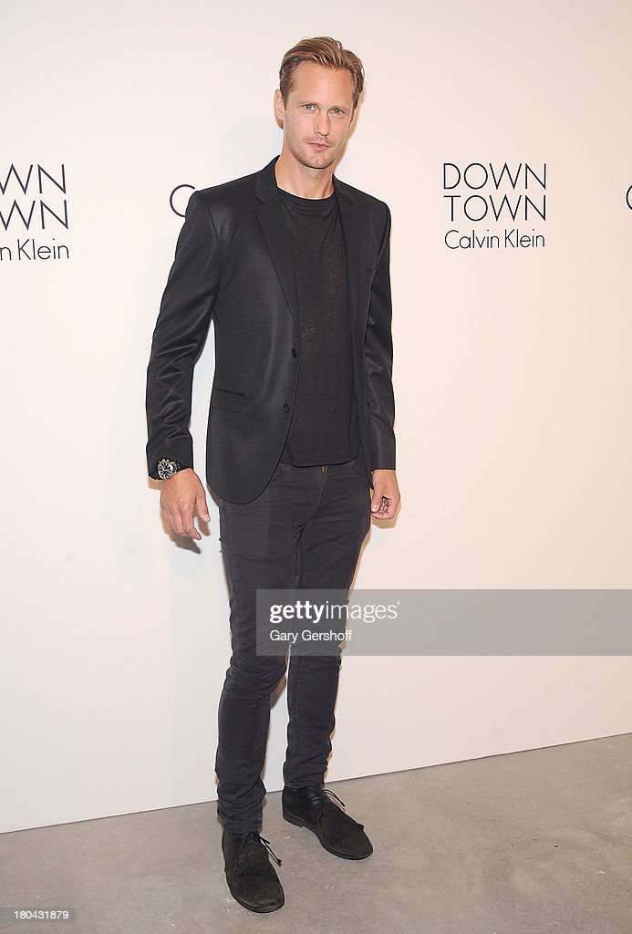 Actor Alexander Skarsgard attends the Calvin Klein Collection post show event at Spring Studios on September 12, 2013 in New York City.
