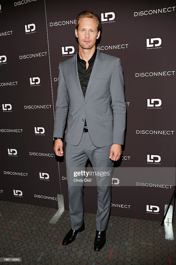 Actor Alexander Skarsgard attends the 'Disconnect' New York Special Screening at SVA Theater on April 8, 2013 in New York City.