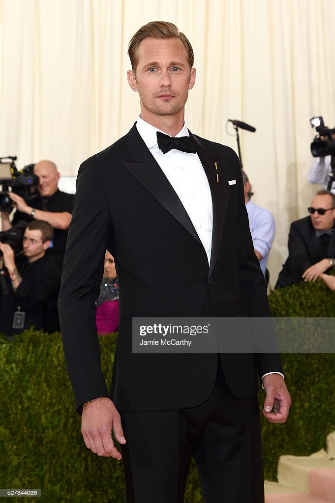 Actor Alexander Skarsgard attends the 'Manus x Machina Fashion In An Age Of Technology' Costume Institute Gala at Metropolitan Museum of Art on May 2...