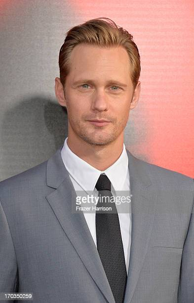 Actor Alexander Skarsgard attends the premiere of HBO's 'True Blood' Season 6 at ArcLight Cinemas Cinerama Dome on June 11 2013 in Hollywood...