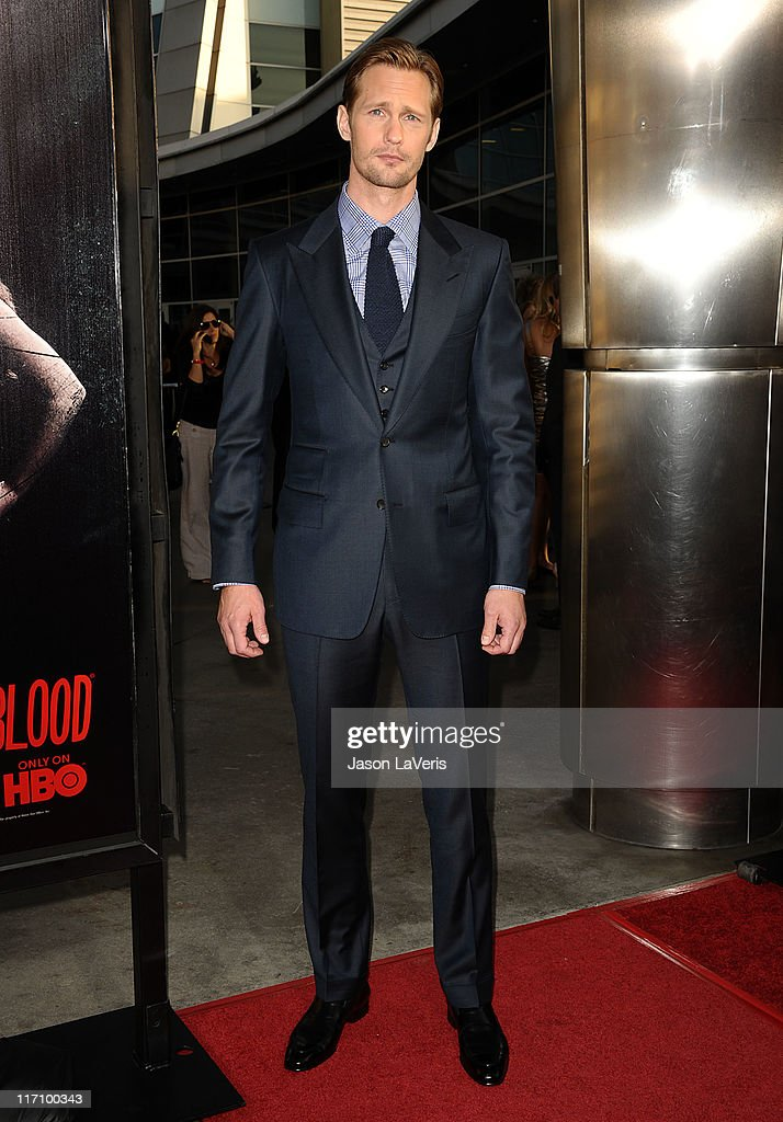 Actor Alexander Skarsgard attends the premiere of HBO's 'True Blood' at ArcLight Cinemas Cinerama Dome on June 21, 2011 in Hollywood, California.