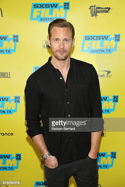 Actor Alexander Skarsgard attends the 'War On Everyone' premiere during the 2016 SXSW Music Film Interactive Festival at Topfer Theatre at ZACH on...