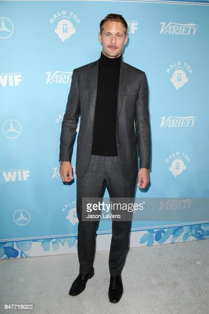 Actor Alexander Skarsgard attends Variety and Women In Film's 2017 preEmmy celebration at Gracias Madre on September 15 2017 in West Hollywood...