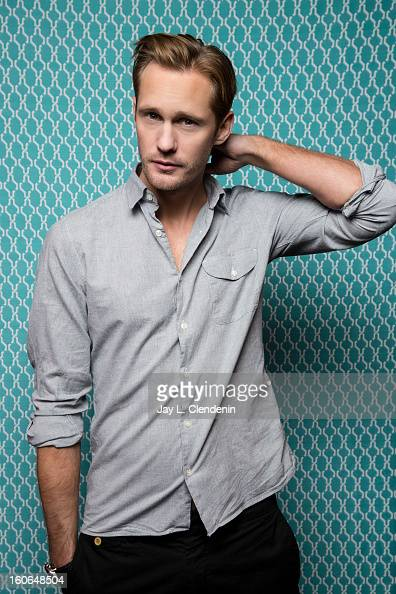 Actor Alexander Skarsgard is photographed at the Sundance Film Festival for Los Angeles Times on January 20 2013 in Park City Utah PUBLISHED IMAGE...