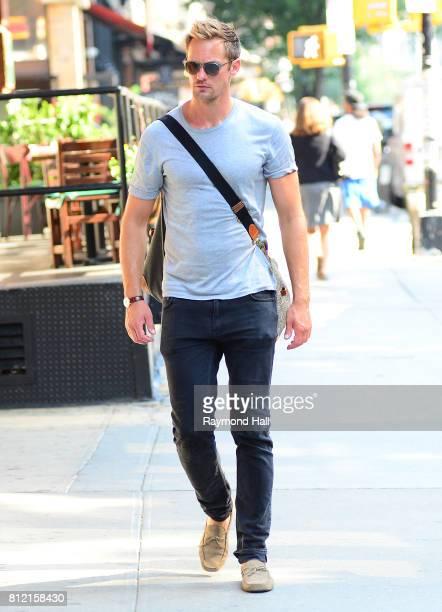 Actor Alexander Skarsgard is seen walking in Soho on July 10 2017 in New York City