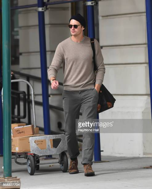 Actor Alexander Skarsgard is seen walking in Soho on October 30 2017 in New York City