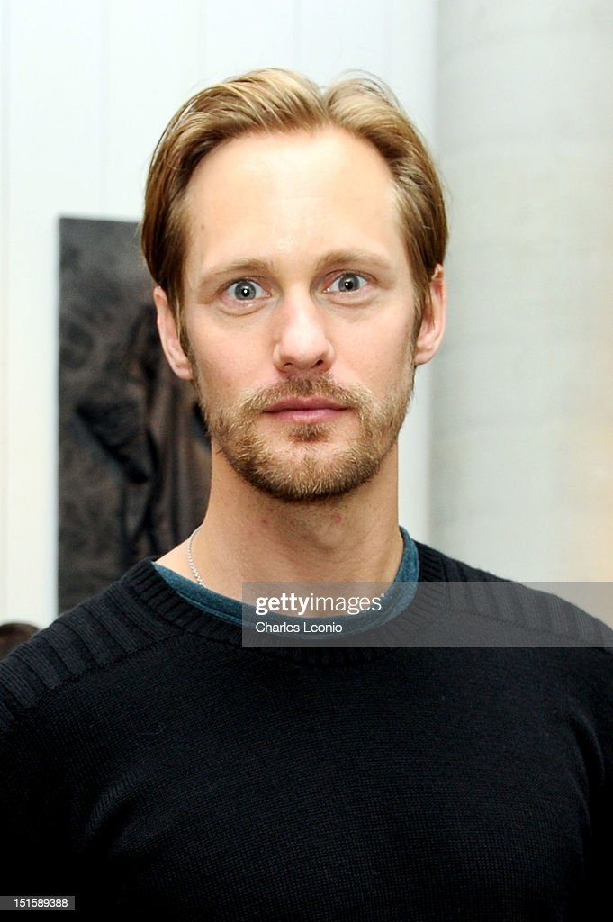 Actor Alexander Skarsgard poses at the Guess Portrait Studio on Day 3 during the 2012 Toronto International Film Festival at Bell Lightbox on September 8, 2012 in Toronto, Canada.