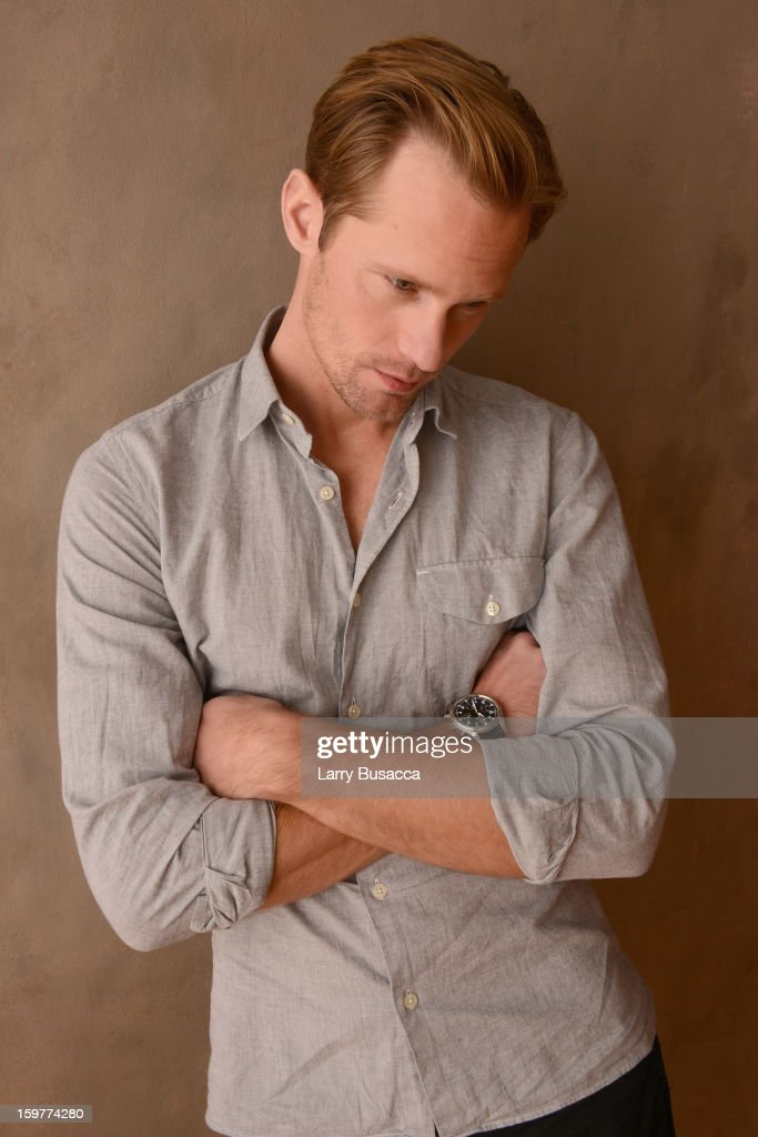 Actor Alexander Skarsgard poses for a portrait during the 2013 Sundance Film Festival at the Getty Images Portrait Studio at Village at the Lift on January 20, 2013 in Park City, Utah.