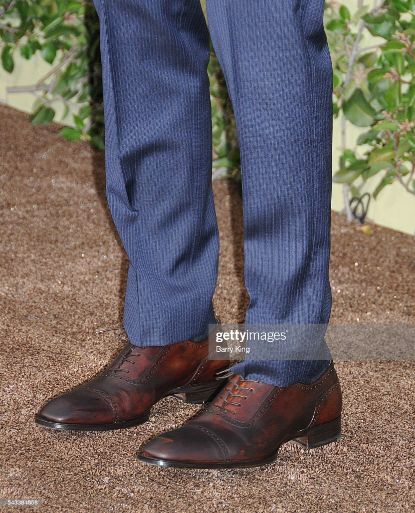 Actor Alexander Skarsgard, shoe detail, attends the premiere of Warner Bros. Pictures' 'The Legend Of Tarzan' at TCL Chinese Theatre on June 27, 2016 in Hollywood, California.