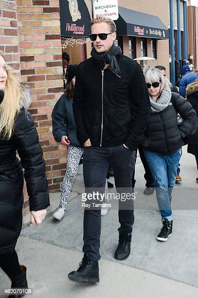 Actor Alexander Skarsgard walks in Park City on January 23 2015 in Park City Utah