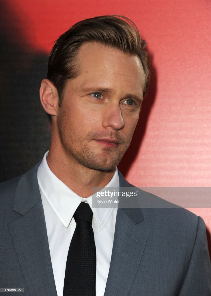 Actor <a gi-track='captionPersonalityLinkClicked' href=/galleries/search?phrase=Alexander+Skarsg%C3%A5rd&family=editorial&specificpeople=2483508 ng-click='$event.stopPropagation()'>Alexander Skarsgård</a> attends the premiere of HBO's 'True Blood' at ArcLight Cinemas Cinerama Dome on June 11, 2013 in Hollywood, California.