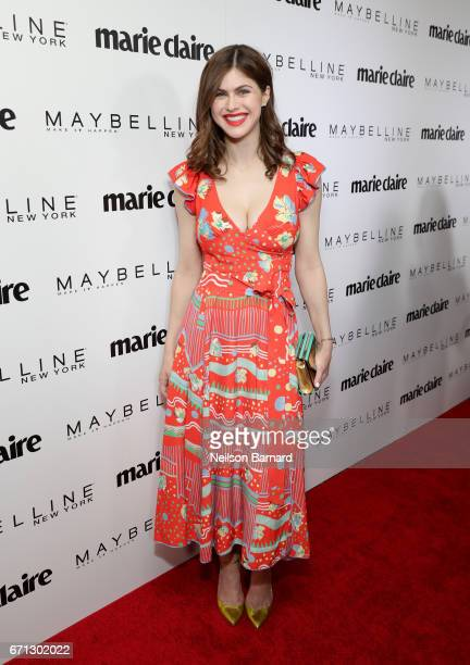 Actor Alexandra Daddario attends Marie Claire's 'Fresh Faces' celebration with an event sponsored by Maybelline at Doheny Room on April 21 2017 in...