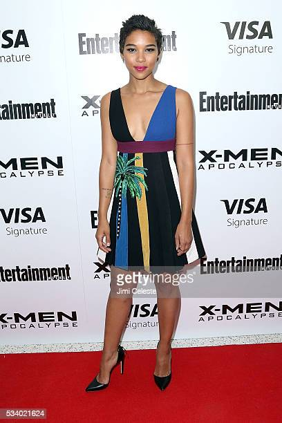 Actor Alexandra Shipp attends the special screening of 'XMEN Apocalypse' at Entertainment Weekly on May 24 2016 in New York City