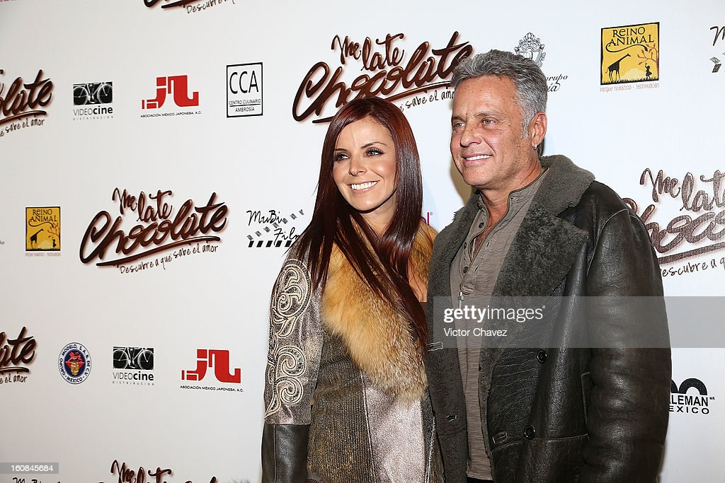 Actor Alexis Ayala and Fernanda Lopez attend the 'Me Late Chocolate' Mexico City premiere at Cinemex WTC on February 6, 2013 in Mexico City, Mexico.