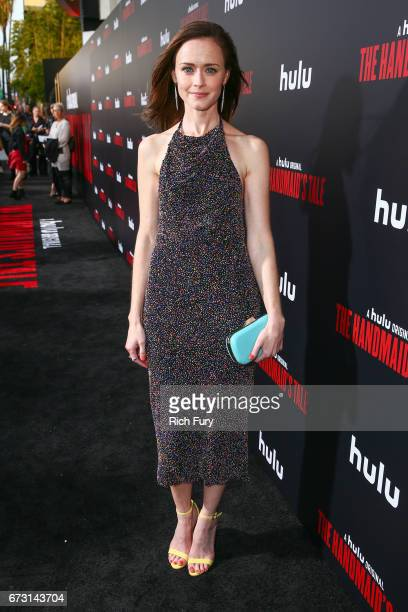 Actor Alexis Bledel attends the premiere of Hulu's 'The Handmaid's Tale' at ArcLight Cinemas Cinerama Dome on April 25 2017 in Hollywood California