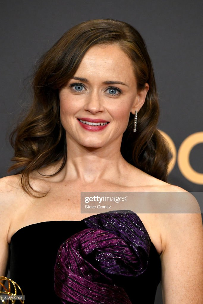 Actor Alexis Bledel of 'The Handmaid's Tale,' winner of the award for Outstanding Drama Series, poses in the press room during the 69th Annual Primetime Emmy Awards at Microsoft Theater on September 17, 2017 in Los Angeles, California.