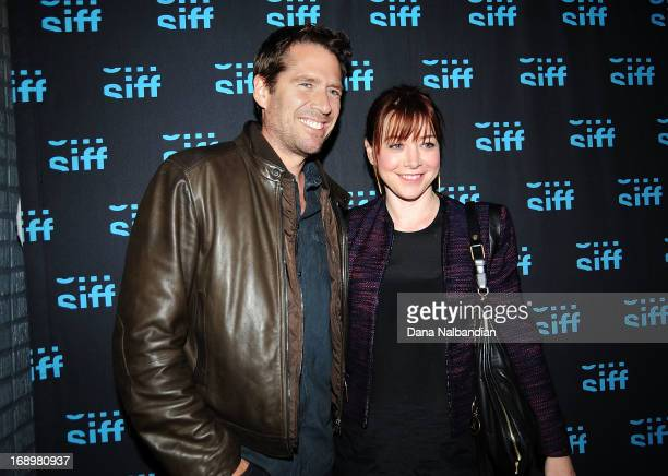 Actor Alexis Denisof and actress Alyson Hannigan at the Seattle International Film Festival for Whedonversesupersecret screening at Uptown Cinema on...