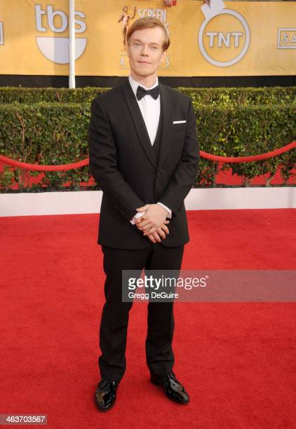 Actor Alfie Allen arrives at the 20th Annual Screen Actors Guild Awards at The Shrine Auditorium on January 18 2014 in Los Angeles California