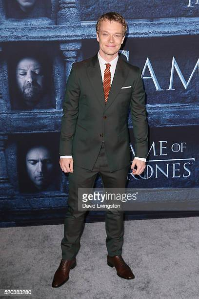 Actor Alfie Allen arrives at the premiere of HBO's 'Game of Thrones' Season 6 at the TCL Chinese Theatre on April 10 2016 in Hollywood California