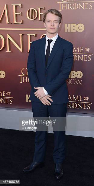 Actor Alfie Allen attends HBO's 'Game of Thrones' Season 5 Premiere at the San Francisco War Memorial Opera House on March 23 2015 in San Francisco...