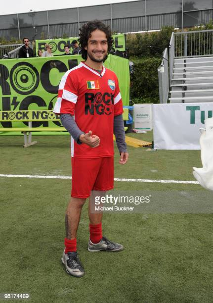 Actor Alfonso Herrera attends MTV Tr3s's 'Rock N' Gol' World Cup KickOff at the Home Depot Center on March 31 2010 in Carson California