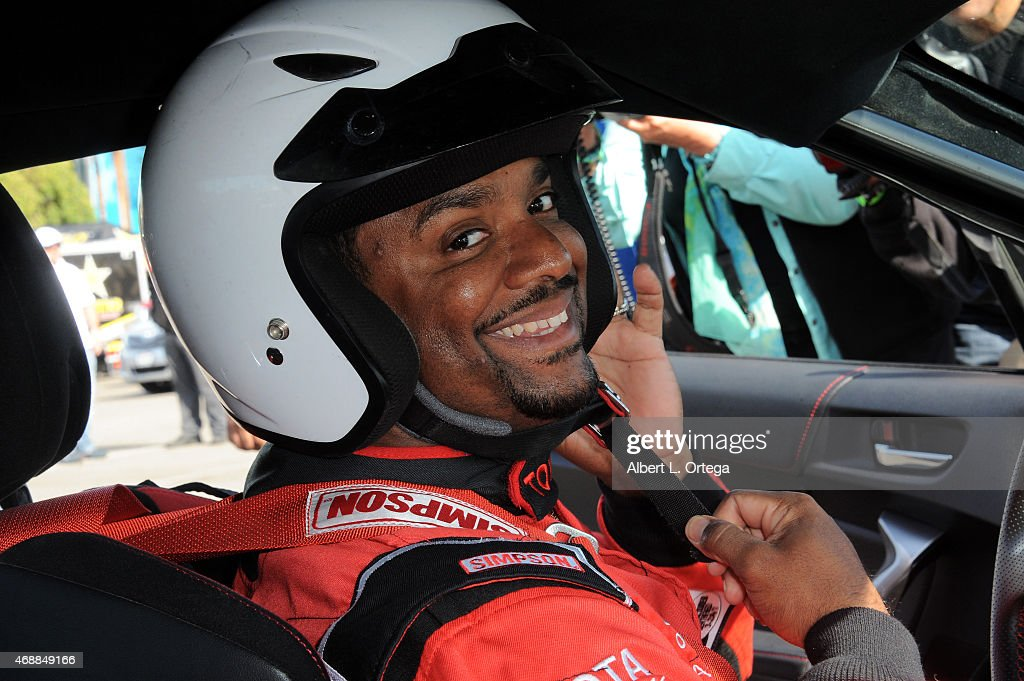 Actor Alfonso Ribiero participates in press day for Pro/Celebrity Race at Toyota Grand Prix of Long Beach on April 7, 2015 in Long Beach, California.