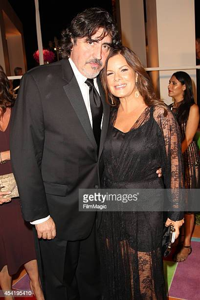 Actor Alfred Molina and actress Marcia Gay Harden attend HBO's Official 2014 Emmy After Party at The Plaza at the Pacific Design Center on August 25...