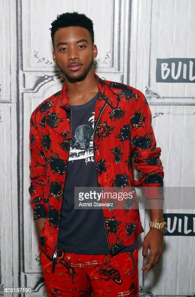 Actor Algee Smith from the film 'Detroit' visits Build studio on August 1 2017 in New York City