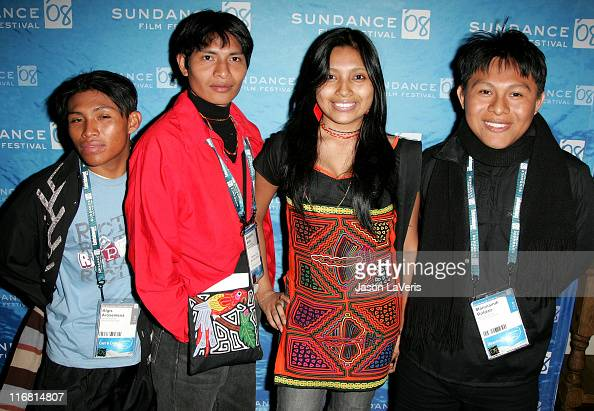 Actor Algis Arosemena Director Benjamin Alila Director Ani Smith and Director Maninaindi Roldan attend Sundance En Espanol at the Pierpont Place...