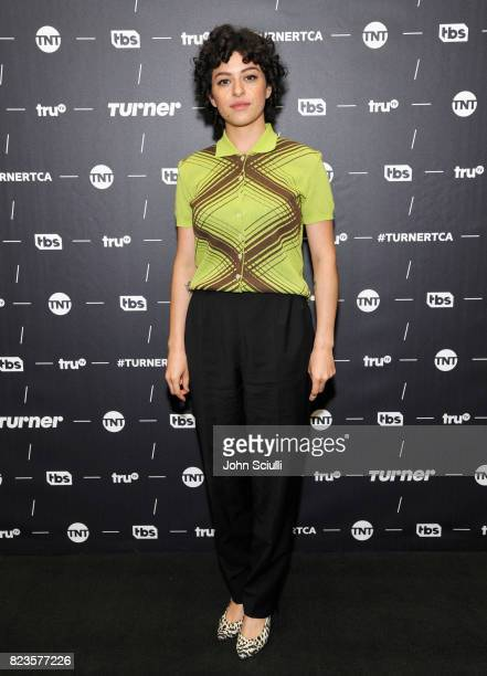 Actor Alia Shawkat of 'Search Party' at the TCA Turner Summer Press Tour 2017 Green Room at The Beverly Hilton Hotel on July 27 2017 in Beverly Hills...