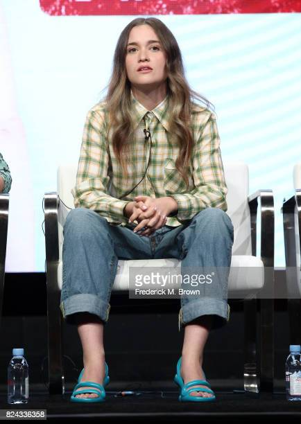 Actor Alice Englert of 'Top of the Lake China Girl' speaks onstage during the SundanceTV portion of the 2017 Summer Television Critics Association...