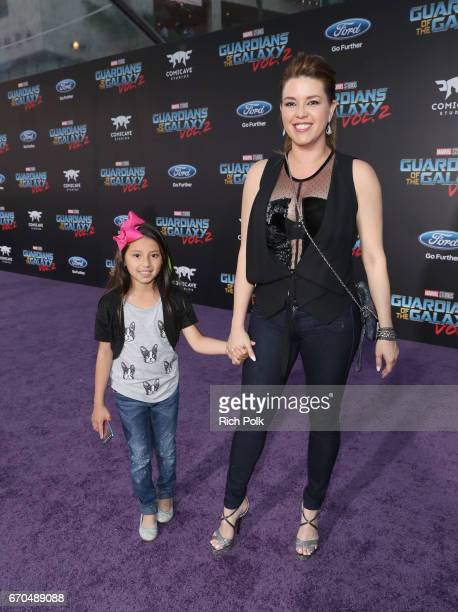 """Actor Alicia Machado and guest at The World Premiere of Marvel Studios' """"Guardians of the Galaxy Vol 2"""" at Dolby Theatre in Hollywood CA April 19th..."""