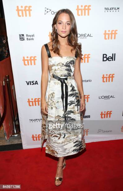 Actor Alicia Vikander attends the premiere of 'Euphoria' during the 2017 Toronto International Film Festival at Winter Garden Theatre on September 11...