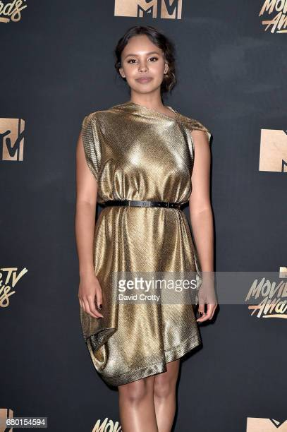 Actor Alisha Boe poses in the press room during the 2017 MTV Movie And TV Awards at The Shrine Auditorium on May 7 2017 in Los Angeles California