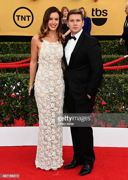 Actor Allen Leech and Charlie Webster attend the 21st Annual Screen Actors Guild Awards at The Shrine Auditorium on January 25 2015 in Los Angeles...