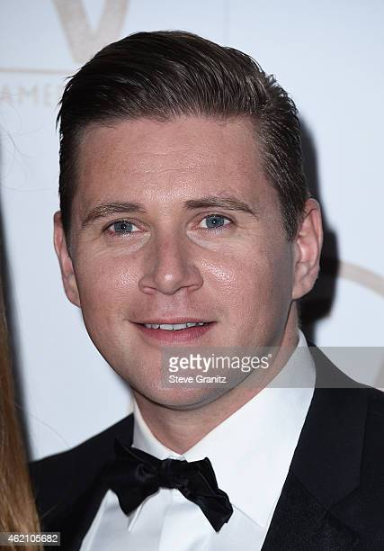Actor Allen Leech attends the 26th Annual Producers Guild Of America Awards at the Hyatt Regency Century Plaza on January 24 2015 in Los Angeles...