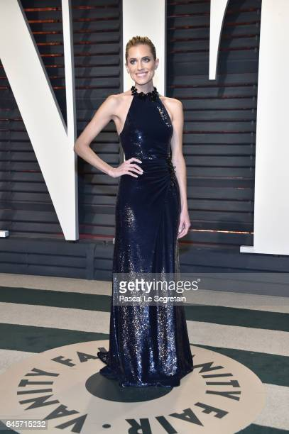 Actor Allison Williams attends the 2017 Vanity Fair Oscar Party hosted by Graydon Carter at Wallis Annenberg Center for the Performing Arts on...