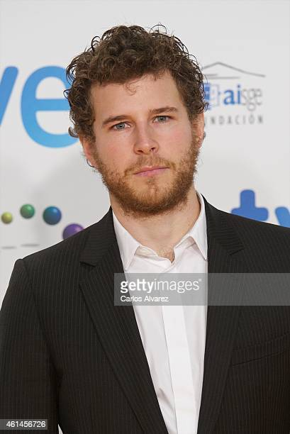 Actor Alvaro Cervantes attends the 20th Jose Maria Forque cinema awards at the Palacio Municipal de congresos on January 12 2015 in Madrid Spain