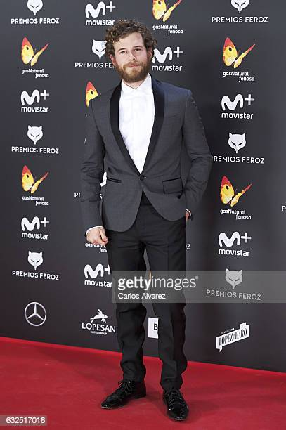 Actor Alvaro Cervantes attends the Feroz cinema awards 2016 at the Duques de Pastrana Palace on January 23 2017 in Madrid Spain