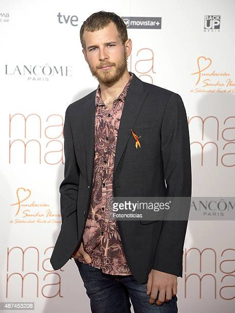 Actor Alvaro Cervantes attends the 'Ma Ma' Premiere at the Capitol Cinema on September 9 2015 in Madrid Spain