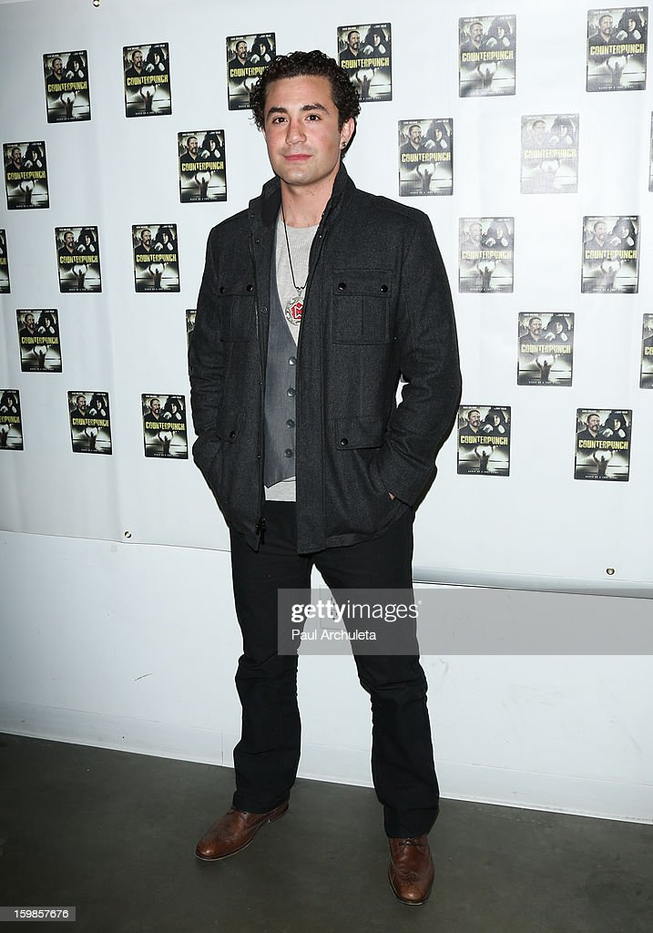 Actor Alvaro Orlando attends the Counterpunch screening at the Downtown Independent Theatre on January 20, 2013 in Los Angeles, California.