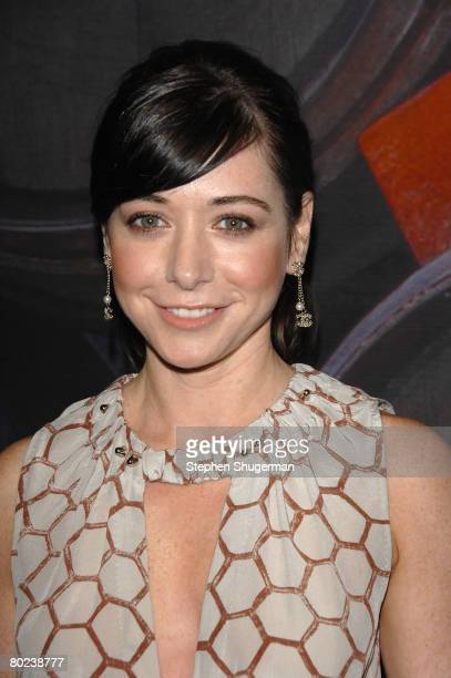 Actor Alyson Hannigan attends the 'How I Met Your Mother' spring premiere party at the Palihouse Holloway on March 13 2008 in West Hollywood...