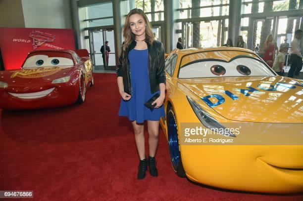"Actor Alyssa Jirrels at the World Premiere of Disney/Pixar's ""Cars 3' at the Anaheim Convention Center on June 10 2017 in Anaheim California"