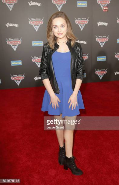 """Actor Alyssa Jirrels poses at the World Premiere of Disney/Pixar's """"Cars 3' at the Anaheim Convention Center on June 10 2017 in Anaheim California"""