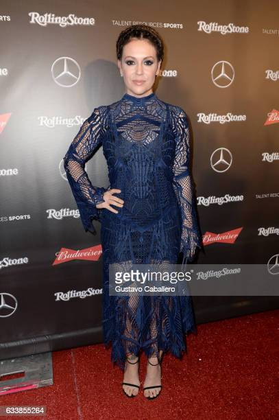 Actor Alyssa Milano at the Rolling Stone Live Houston presented by Budweiser and MercedesBenz on February 4 2017 in Houston Texas Produced in...