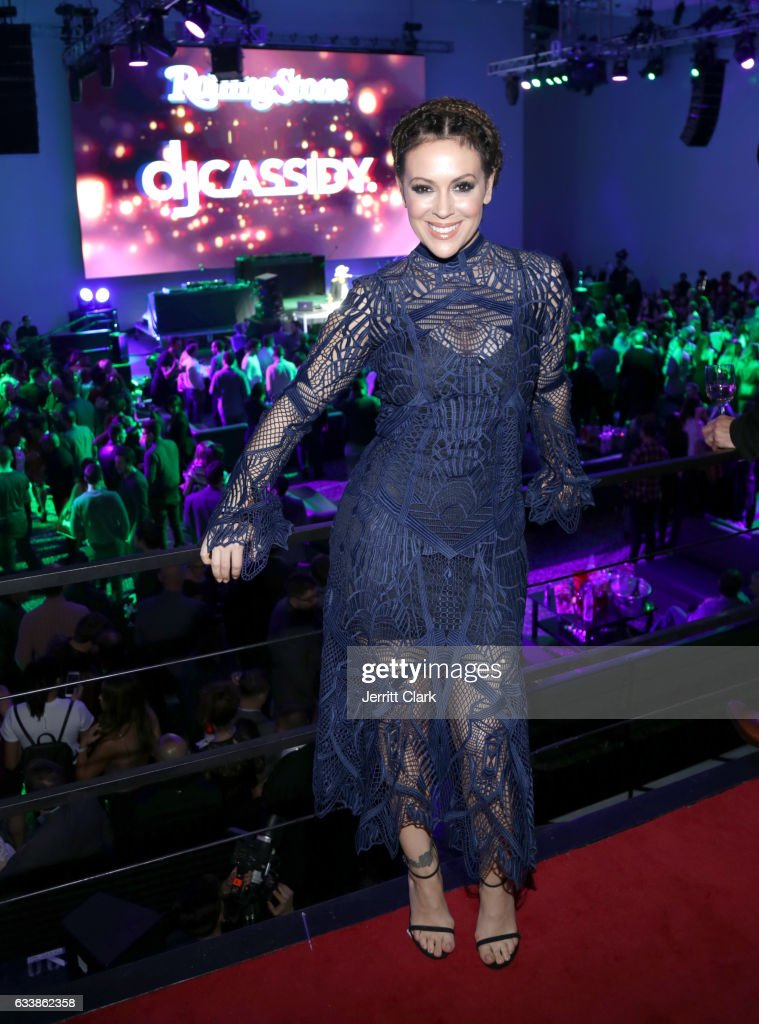 Actor Alyssa Milano at the Rolling Stone Live: Houston presented by Budweiser and Mercedes-Benz on February 4, 2017 in Houston, Texas. Produced in partnership with Talent Resources Sports.