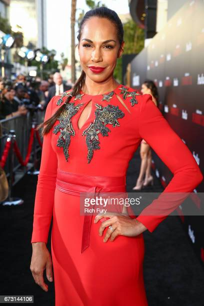 Actor Amanda Brugel attends the premiere of Hulu's 'The Handmaid's Tale' at ArcLight Cinemas Cinerama Dome on April 25 2017 in Hollywood California