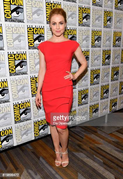 Actor Amanda Schull at the '12 Monkeys' press line during ComicCon International 2017 at Hilton Bayfront on July 20 2017 in San Diego California