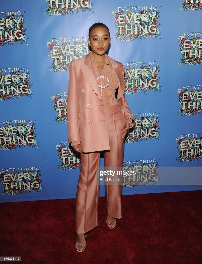 Actor Amandla Stenberg attends the 'Everything, Everything' New York Screening at The Metrograph on April 30, 2017 in New York City.
