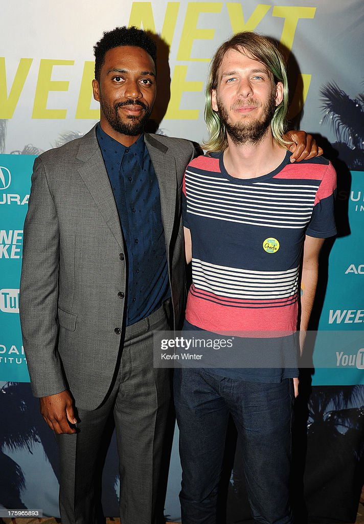 Actor Amari Cheatom and Sundance Film Festival Programmer Charlie Reff attend 'Newlyweeds' premiere during NEXT WEEKEND, presented by Sundance Institute at Sundance Sunset Cinema on August 10, 2013 in Los Angeles, California.